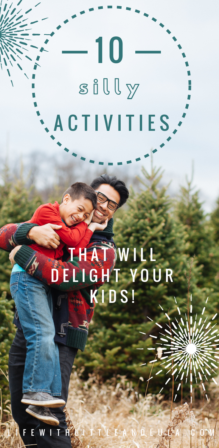 Silly fun activities to do with kids for better behaviour, to make chores fun and build strong relationships. #singleparent #familylife #funactivitieswithkids