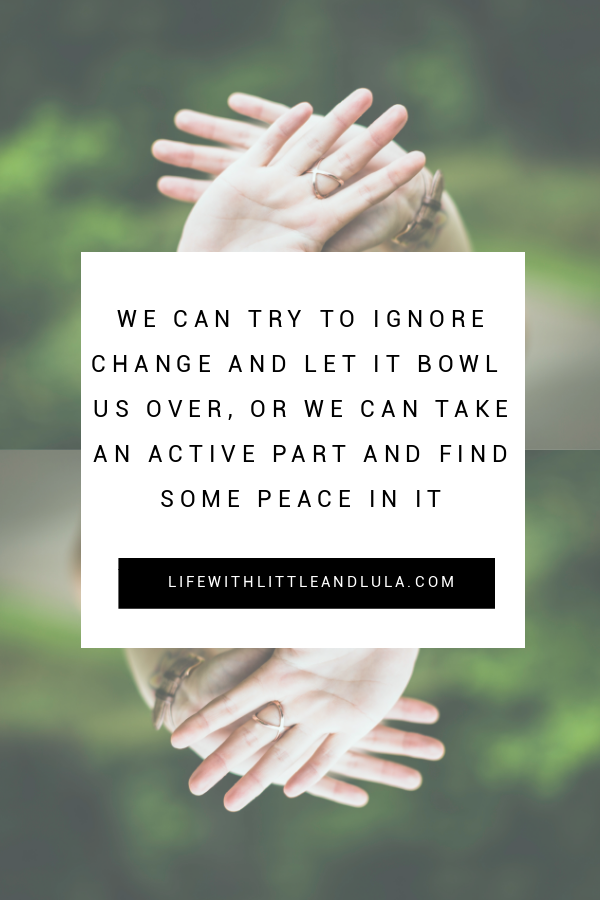 Learn to cope with change better for the sake of yourself and your children. #divorce #change #singlemom #moving #family