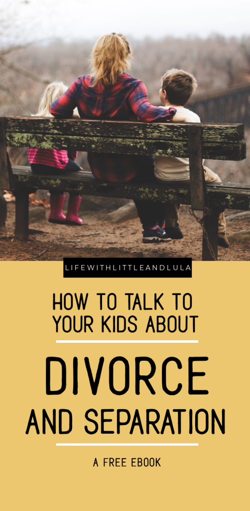 Talking with your kids about your breakup is hard. Your children will have questions (whether they ask them out loud or not). Get this free ebook and have answers ready that will help them through this tough time.