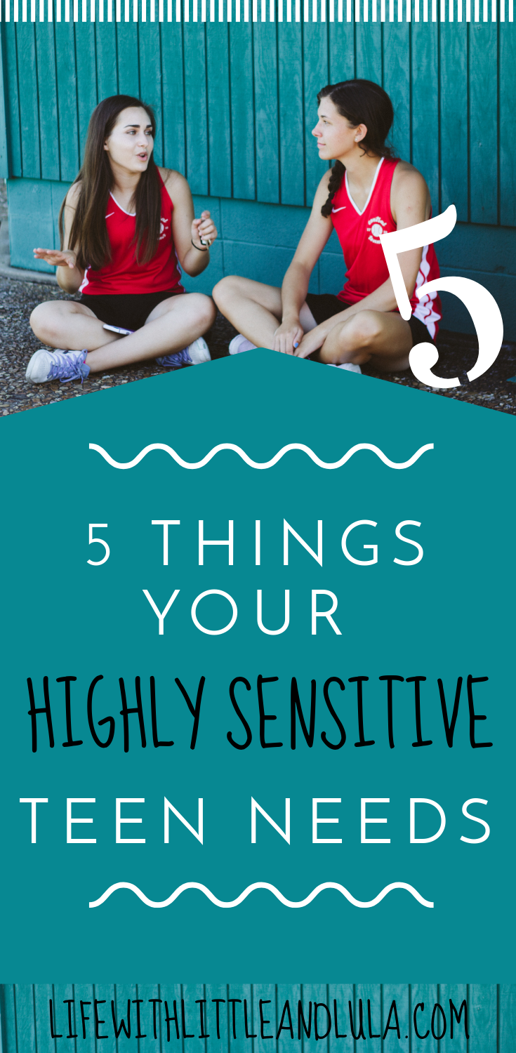 Most of us struggle to deal with our emotions, relationships and identity as teens. Here are 5 things that will help our wonderful Highly Sensitive teens flourish. #highlysensitive #teen #teenager #family #familylife #empath